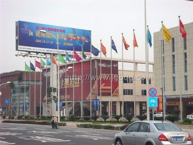 佛山瓷海国际旗杆12米旗杆案例
