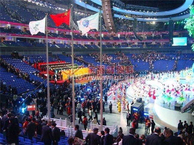 上海世博会开幕升旗仪手动旗杆工程