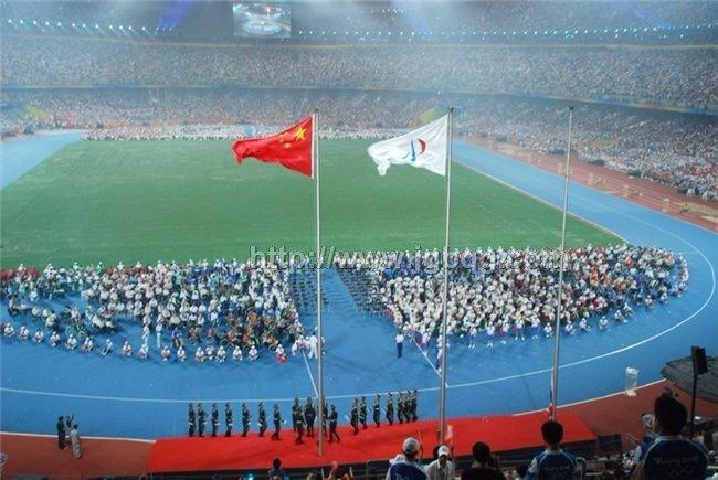 北京残奥会开幕升旗仪旗杆工程