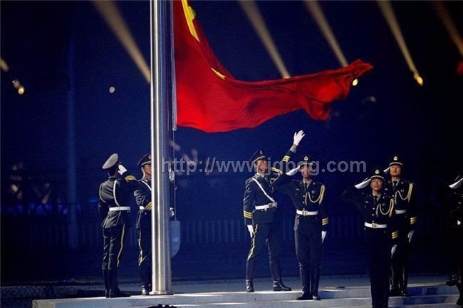 广州亚运会开幕升旗仪旗杆工程