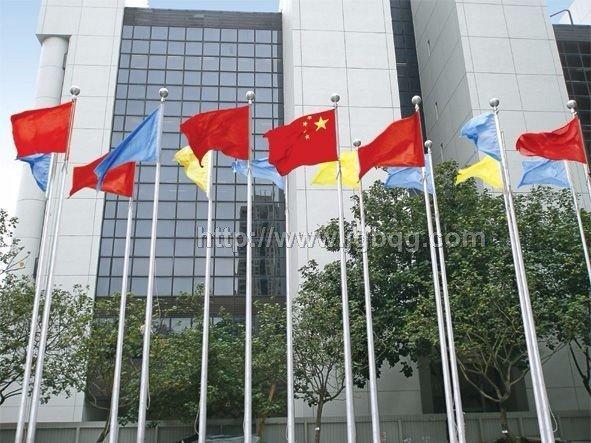 香港赛马场奥运村9米电动旗杆工程