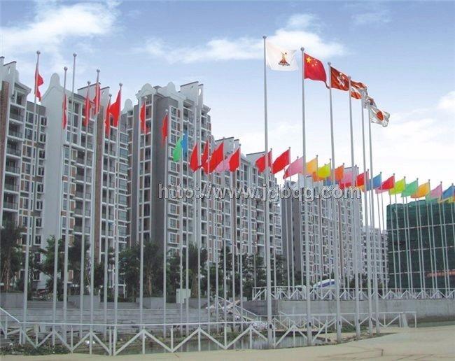 亚运城升旗广场铝合金旗杆工程