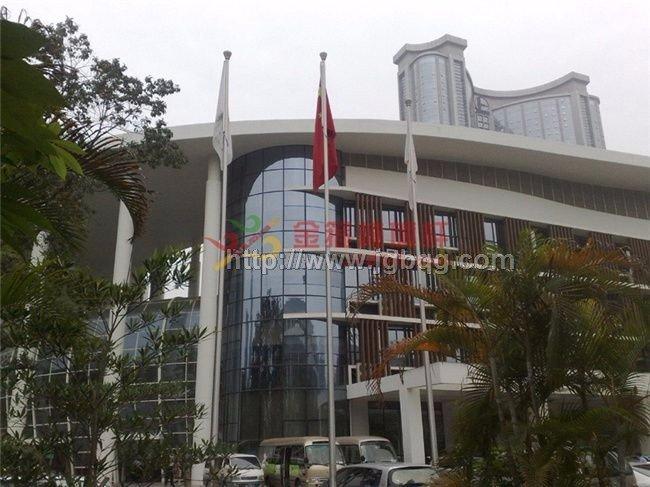 亚运会亚亚组委大厦不锈钢旗杆工程