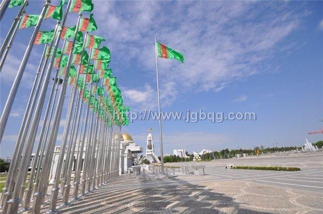 土库曼斯坦总统府旗杆工程