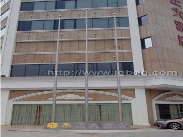 禾正酒店12米米旗杆案例