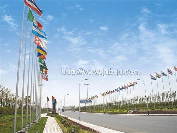 绍兴滨海开发区景观不锈钢旗杆15米旗杆案例