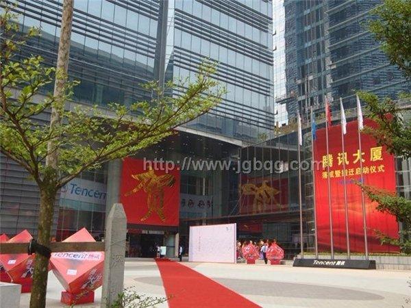 深圳腾讯QQ大厦旗杆12米旗杆案例