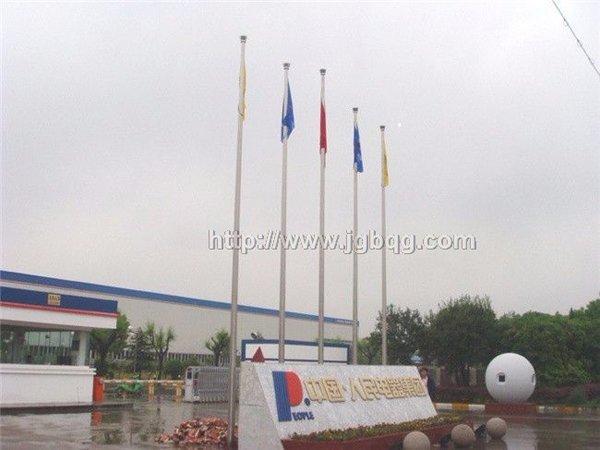 上海中国人民电器集团9米旗杆案例