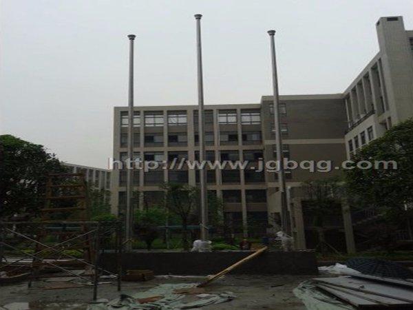 湖南雨花区新塘工业小区9米旗杆案例