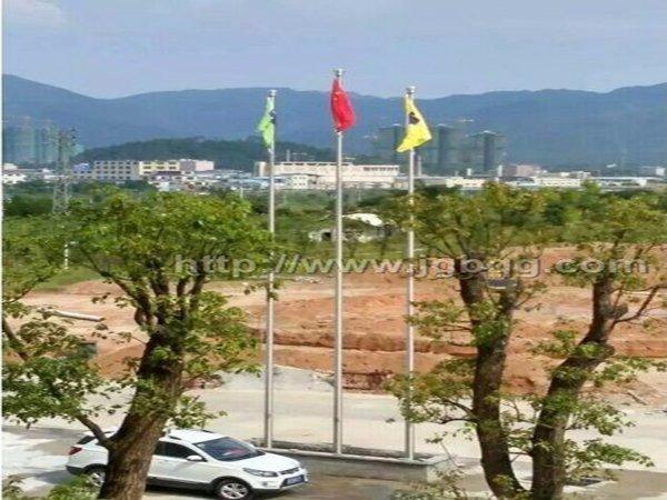 清远松峰机械有限公司12米旗杆案例