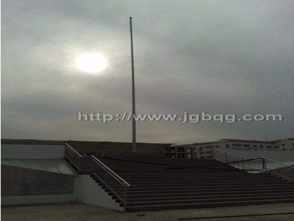陕西延安实验小学16.8米旗杆案例