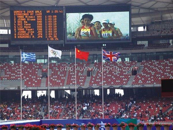 北京奥运会场馆18M锥形旗杆工程1